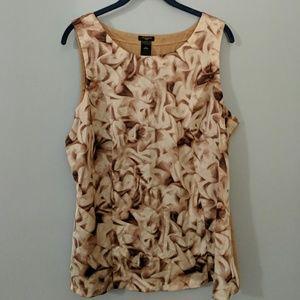 Ann Taylor - Pink printed sleeveless blouse - XL